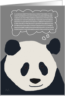 Happy Pi Day - Panda with a Thought Bubble Thinking of Pi card