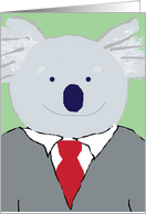Koala Bear in Suit, koalafied - Thank You for the Interview Humor Card