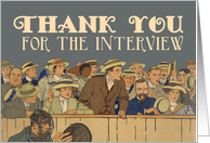 Vintage Baseball Game - Thank You for the Interview Card
