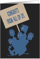 From All of Us - Congratulations, congrats, Vintage, Retro card