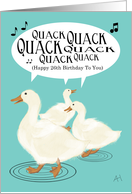 Ducks Singing Happy 26th Birthday To You, Happy Birthday Card