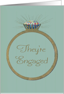Retro Engagement Announcement from Parents of the Bride, Custom Photo card