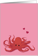 Octopus Valentine's Day, I wish I Had Eight Arms to Wrap Around You card