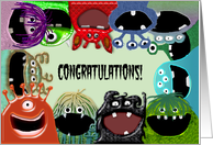 Cute Monster - Congratulations From Group, All of Us card
