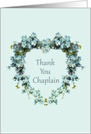 Thank You for Chaplain Heart Shaped Forget-Me-Nots card