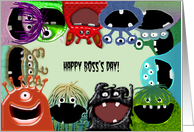 Monster Boss's Day Greeting Card from Group card