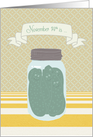Happy Birthday on National Pickle Day, November 14th card