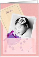 Custom Photo, Girl Gotcha Day Card for Daughter card