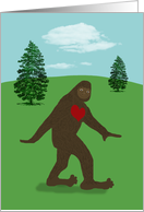 You've Got a Big Heart, Big Foot Thank You Card