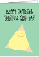 Birthday on National Tortilla Chip Day card