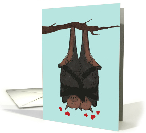 Moved In Together Announcement and New Address, Bats Hanging card