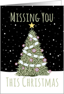 Missing You at Christmas During the Coronavirus Pandemic card