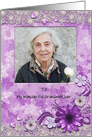 Purple Butterflies and flowers Grandparents Day Card