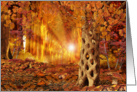 Enchanted Autumn Forest Card