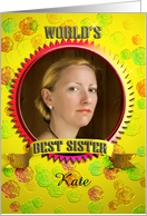 World's best sister card sister's day photo card