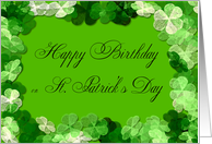 St. Patrick's Day Lucky Frame Birthday Card