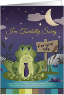 I'm Toadally Sorry, Blank Note Card