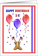 Military Patriotic Happy Birthday to You Card