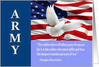 Military Army Thank You, MacArthur Quote Card