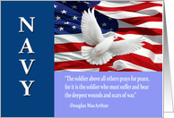 Military Navy Thank You, MacArthur Quote Card