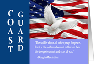 Military Coast Guard Thank You, MacArthur Quote Card