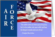 Military Air Force Thank You, MacArthur Quote Card