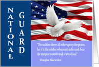 Military National Guard Thank You, MacArthur Quote Card