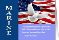 Military Marine Thank You, Mac Arthur Quote Card