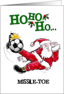 Soccer Missile-Toe Christmas card