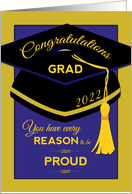 Congratulations 2020 Graduate, GRAD, Every Reason to be Proud card