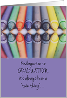 Graduation Congratulations for Twins, High School, College, Elementary card