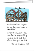 Congratulations Parents, Graduation, Roller Coaster Ride Was Awesome card