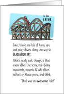 Congratulations Father, Graduation, Roller Coaster Ride Was Awesome card