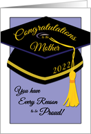 Congratulations to Mother of 2018 Graduate, Every Reason to be Proud card