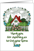 Thank You for Choosing Us to List Your Home-for Client from Agent card