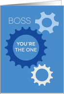 Boss You're the One Who Makes Us Work, Happy Boss's Day card