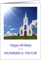 Happy Birthday to Our Wonderful Pastor card