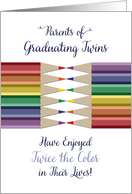 Graduation Congratulations for Parents of Twins, College, High School card