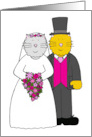 Thank You for Making Our Wedding Special, Bride and Groom Cats. card