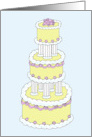 Thank You for Making our Wedding Cake, Stylish Multi Tiered Iced Cake. card