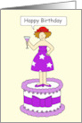 Happy Birthday for Lady in Red Hat card