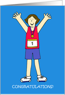 Congratulations on Running a Marathon, for a Female. card