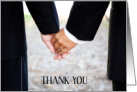 Thank You for the Wedding Gift from Gay Male Couple Romantic Photo card