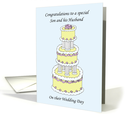 Congratulations to Son and His Husband on their Wedding Day card