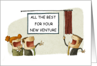 All the Best for Your New Business Venture, Cartoon. card