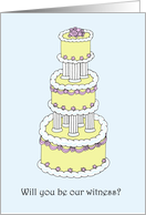 Will You Be Our Witness? Stylish Cake. card