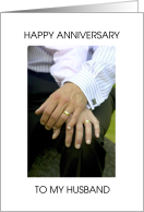 Happy Anniversary to Husband from Gay Male Partner. card
