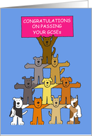 Congratulations on Passing Your GCSEs, Cute Cartoon Dogs. card
