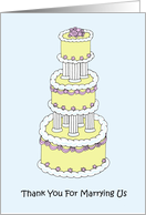 Thank You For Marrying Us, Stylish Multi Tiered Cake. card