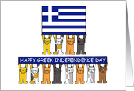 Happy Greek Independence Day. card